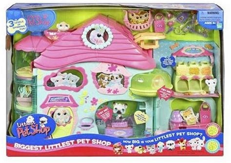 lps houses walmart amazon com hasbro biggest littlest pet shop playset toys