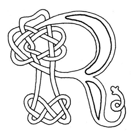 printable gaelic alphabet celtic letters r jpg 594 215 591 pixels color sheets and