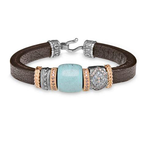 pulseras de cuero y zamak para mujer pulseras cuero plata plata de palo ideas de regalos para