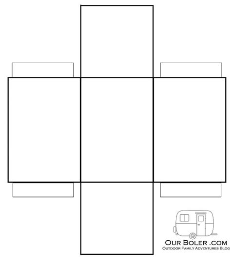 How To Make A Square Box Out Of Paper - 5 best images of rectangle box template printable paper