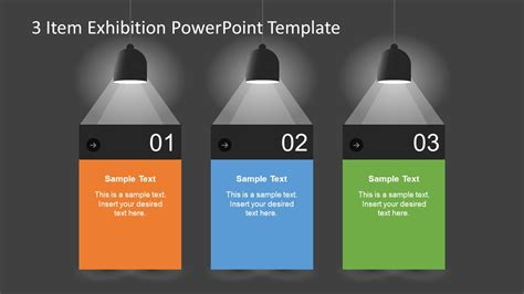 3 Item Exhibition Powerpoint Template Slidemodel Templates In Powerpoint