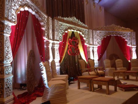 Jodha Akbar Mandap and floral Ganesh   Toronto Indian