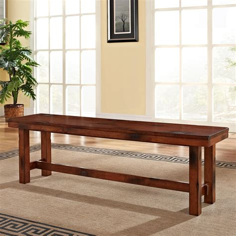 wood benches for kitchen tables we furniture solid wood oak dining bench