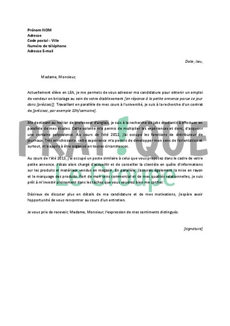 Vendeur Automobile Lettre De Motivation Lettre De Motivation Vendeur Automobile