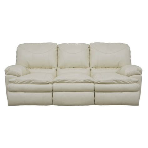 catnapper leather sofa catnapper perez power reclining leather sofa in ice