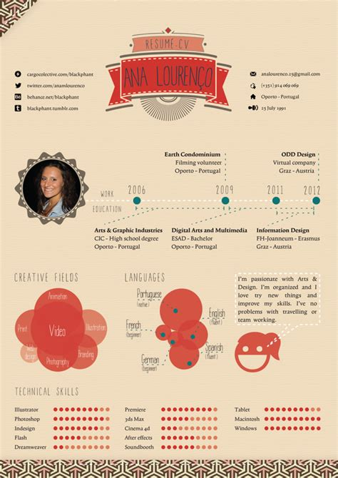 Resume Design Ideas 50 Awesome Resume Designs That Will Bag The Hongkiat