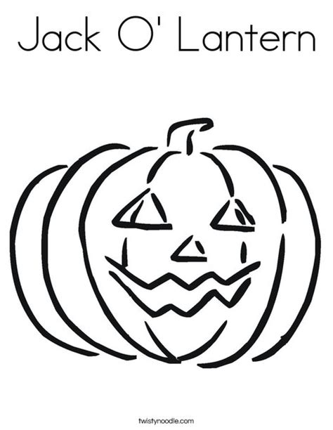 Jack O Lantern Coloring Page Twisty Noodle