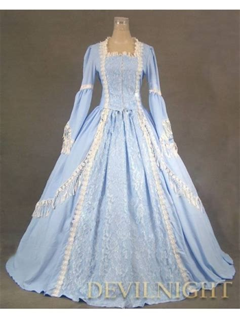blue pattern lace dress elegant blue lace victorian dress devilnight co uk