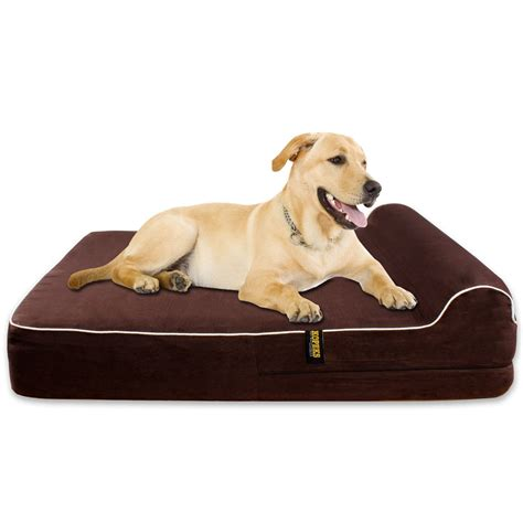 dog beds large amazoncom barksbar large gray orthopedic dog bed x dog