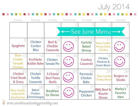 printable monthly calendar for meal planning 43 best meal planning images on pinterest savory snacks
