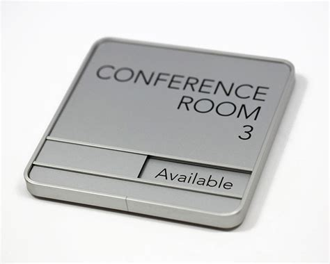 Wall Sign Room sliding conference room signs in session availability signs