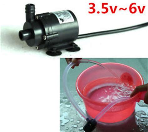 Mini Micro Submersible Water Motor Pompa Air Mini Dc 3v 6v 120l H dc 3 5v 6v 5v micro mini submersible motor water f solar cooling