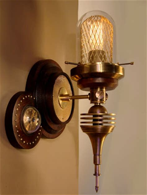 Steampunk Sconce The Steampunk Home Art Donovan S New Wall Lamp
