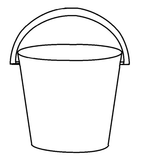 water bucket coloring coloring pages