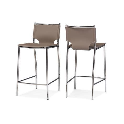 Taupe Leather Bar Stools by Baxton Studio Montclare Modern And Taupe
