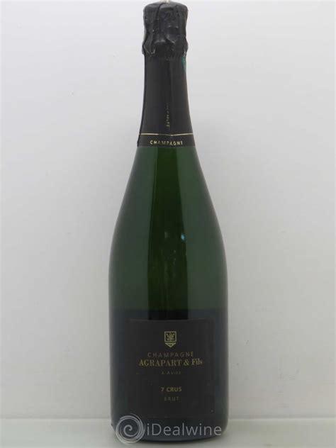 cave a vin enterree 2251 acheter 7 crus blanc de blancs agrapart fils lot 2251
