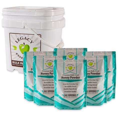 25 Year Shelf Food Storage by Legacy Essentials Term Powdered Honey 25 Year Shelf