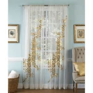 Sheer Gold Curtains Buy Gold Sheer Curtains From Bed Bath Beyond