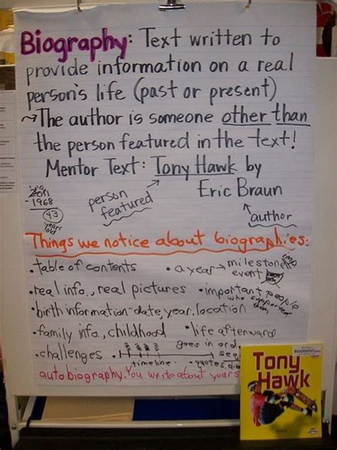 list of biography books for 5th grade biography poster