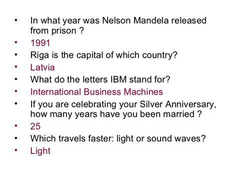 questions on biography of nelson mandela general knowledge quiz