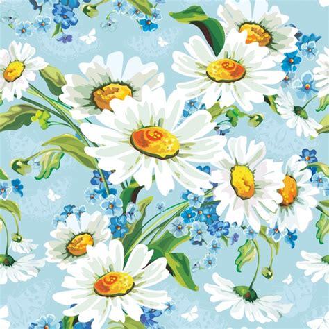 daisy background pattern vector daisy flowers background vector free vector in