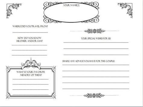 wedding guest book pages found diy weddingbee com dy on wedding