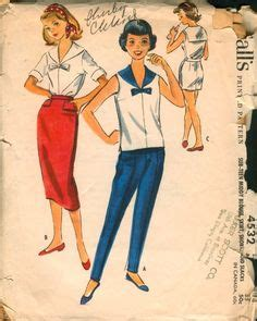Blouse B 1958 1000 images about i vintage sewing patterns sailor