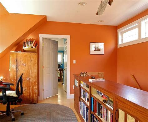 trend 25 vibrant home offices with bold orange brilliance2014 interior design 2014