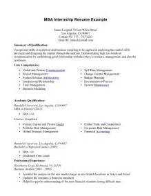 internship resume templates internship resume exles top 10 resume objective