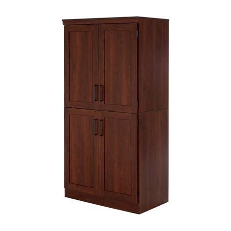 shaker armoire south shore morgan 4 door wood shaker armoire in royal