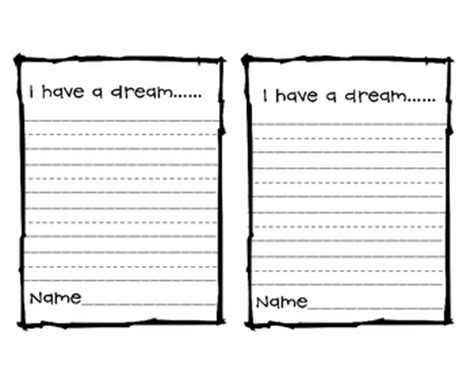 printable mlk writing paper free i have a dream writing paper by rachelle rosenblit tpt