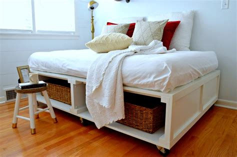 Diy Platform Bed Frame With Storage 15 Diy Platform Beds That Are Easy To Build Home And Gardening Ideas