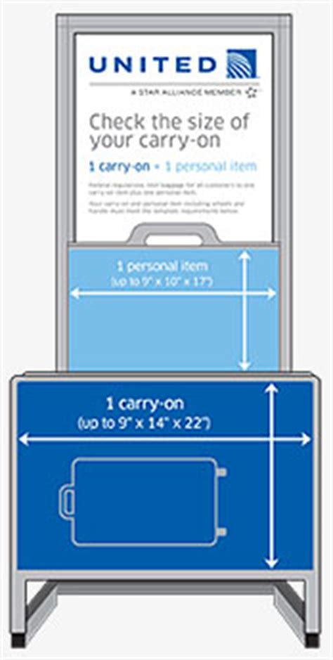 united airlines baggage sizes airline carry on size