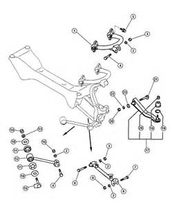 Daimler Chrysler Parts Chrysler Rear Suspension Arm And Related Parts
