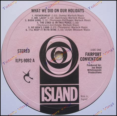 What We Did On Our Holidays Channel Islands Summer 2006 | totally vinyl records fairport convention what we did