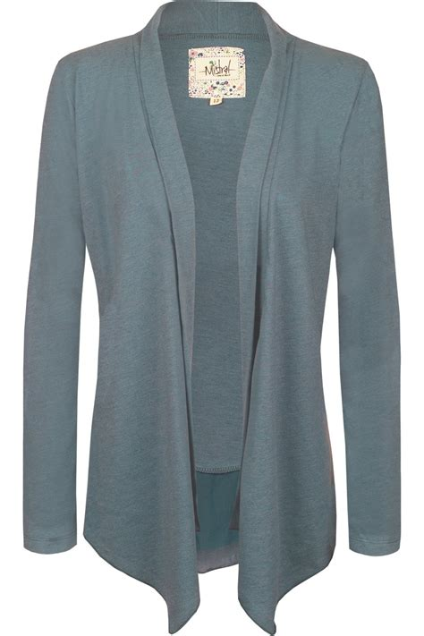 Cardigan Jersey waterfall peplum jersey cardigan china blue