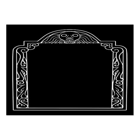 tomstone card template tombstone business card template zazzle