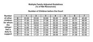 child support percentage chart practitioners