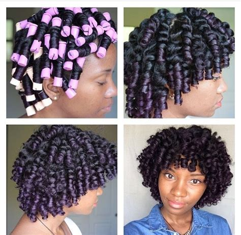 black hairstyles without heat chronicurls great way to set your hair without heat