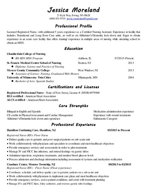 Term Care Resume Nursing Resume Ii