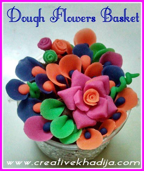 making flowers dough flowers basket making