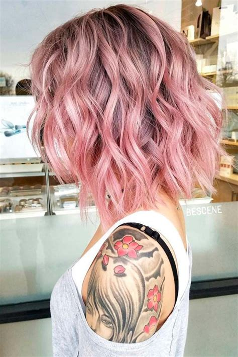 Medium Length Hairstyles For With Wavy Hair by Pink Hair Www Pixshark Images Galleries With