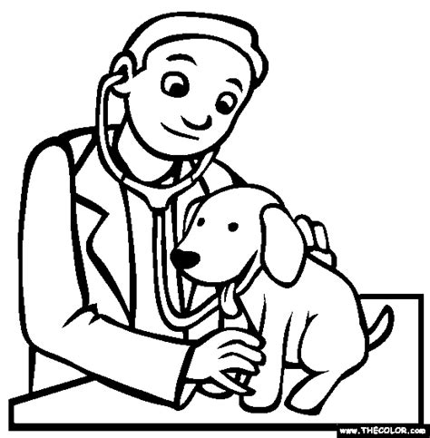 coloring pages veterinarian veterinarian coloring page clipart panda free clipart