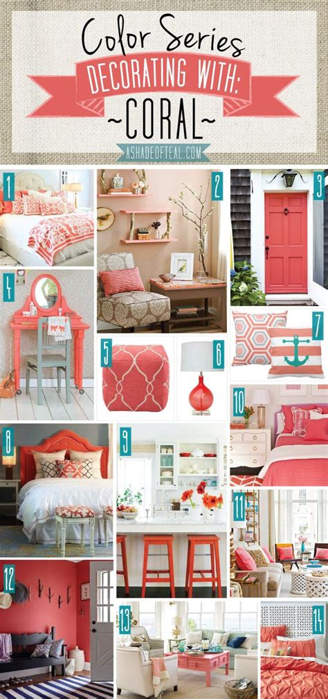 coral color home decor color series decorating with coral color series