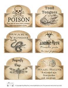 Halloween bottle labels free printable itsy bitsy fun