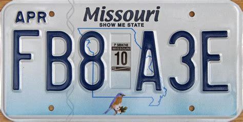 Missouri Vanity Plates by Missouri Y2k