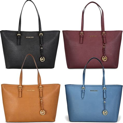 michael kors michael kors large jet set travel saffiano leather tote bag show price on u