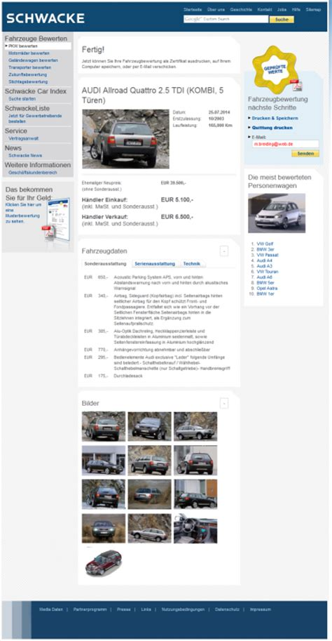 Schwackeliste Auto Adac by Schwacke Liste Vs Kostenlos Alternativ Tools