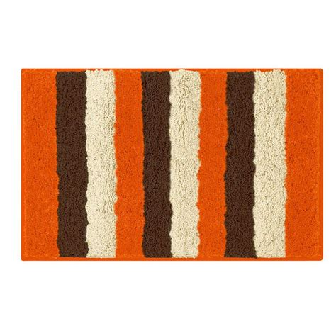 Orange Bathroom Rug Bathtopia Radella Orange 18 In X 30 In Bath Rug Ymb002316 The Home Depot