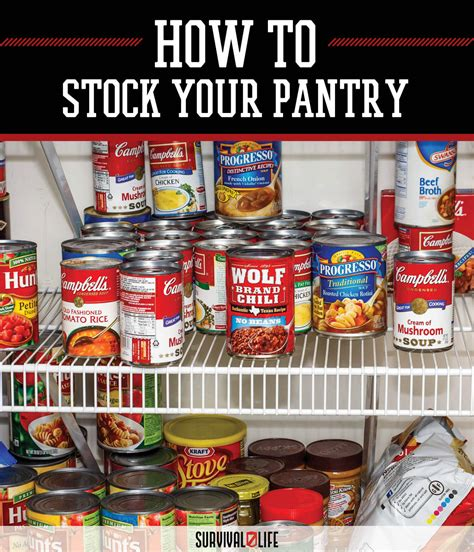 how to stock your pantry survival